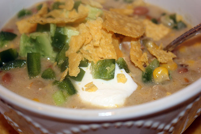 Instant Pot Green Chili Chicken Soup